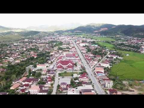 Drone View Xieng Khouang, Phonsavan, Laos - Neng Yang - Rov Mus XK... Drone View