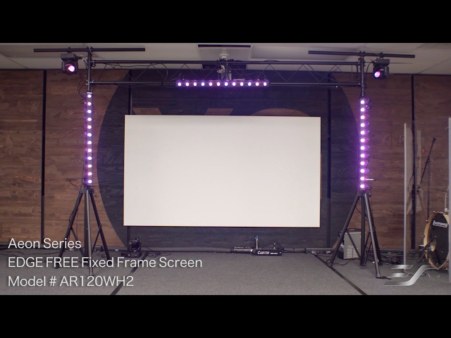 Josh Terada or Calvary Chapel in Anaheim, CA on Elite Screens' AEON Edge-Free Projection Screen