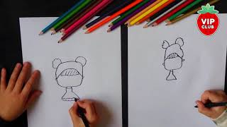 How to draw a LOL surprise doll - Queen Bee - DIY drawing easy