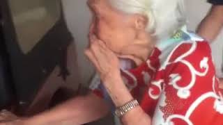 Elderly woman breaks down when surprised with late husband's Jeep