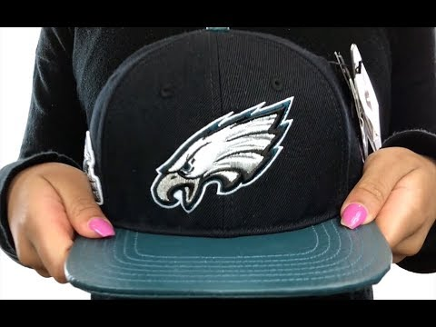 Eagles  TEAM LOGO SUPER BOWL LII STRAPBACK  Black-Green Hat by Pro Standard 7f94ead54f55