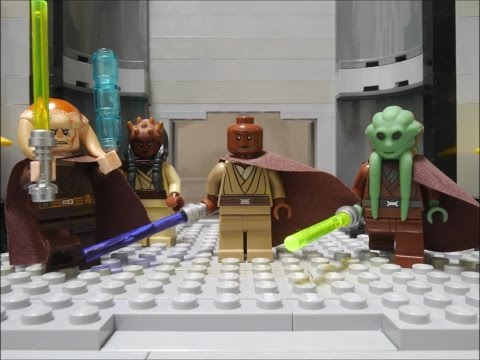 LEGO STAR WARA Palpatine's arrest Mace Windu vs Darth Sidious