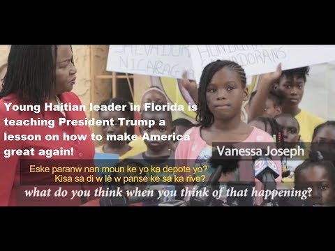 Haitian girl in Florida calling out President Trump