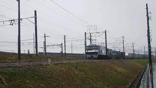 2017/3/8貨物列車1050レEF210‐103号機(吹)代走!!