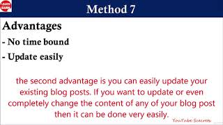 Amazing Passive Income Methods |  how to make money blogging