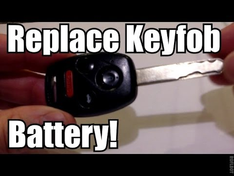 HONDA Keyfob Remote Battery Replacement How To