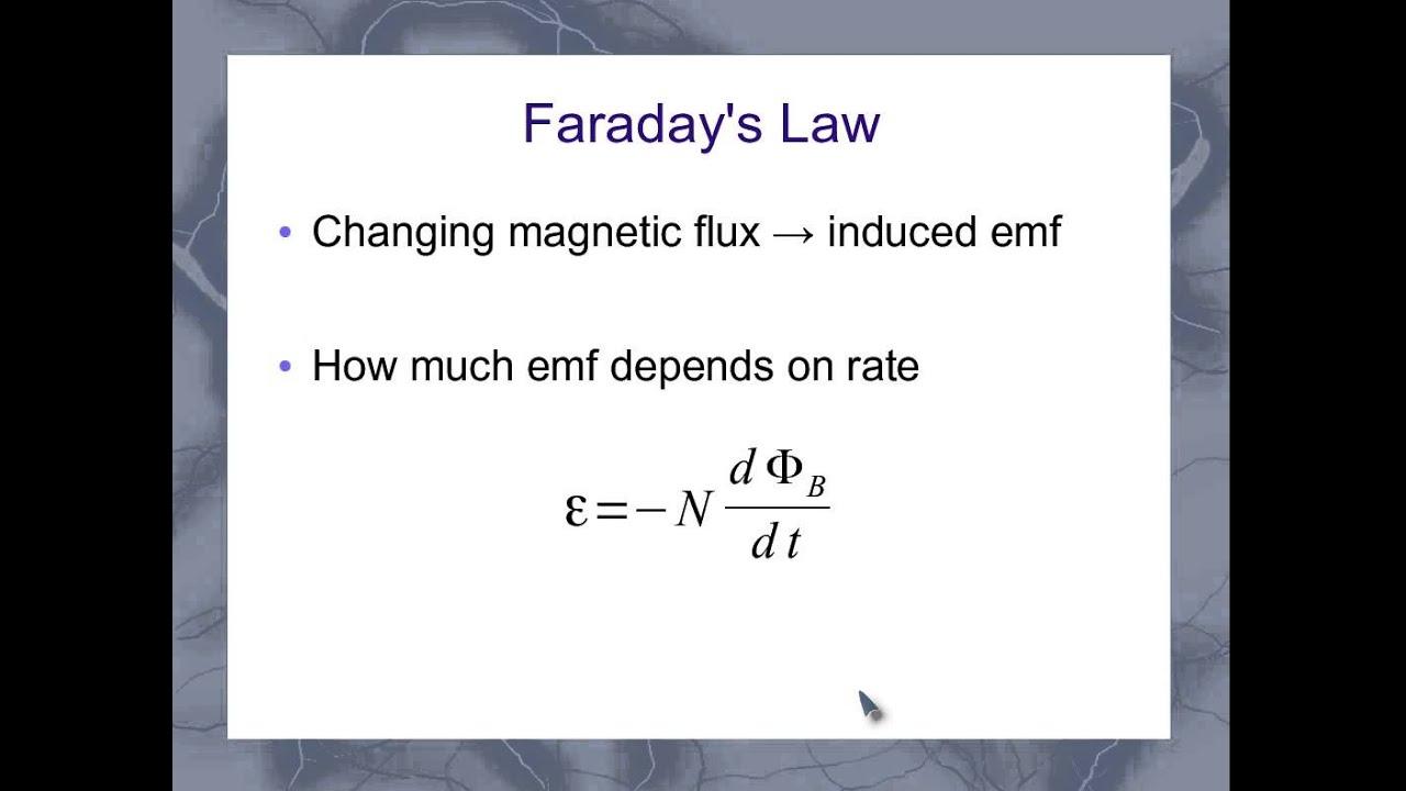 Faradays law derivative form youtube buycottarizona