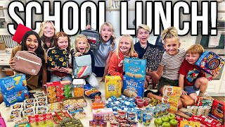 SCHOOL LUNCH PLANNiNG aฑd PREP for LARGE Family! MOM of 16 KIDS!!