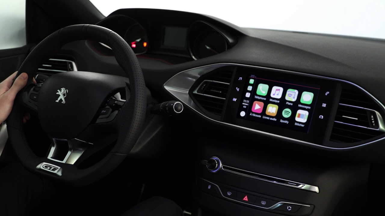 mirror screen apple carplay nouvelle peugeot 308 youtube. Black Bedroom Furniture Sets. Home Design Ideas