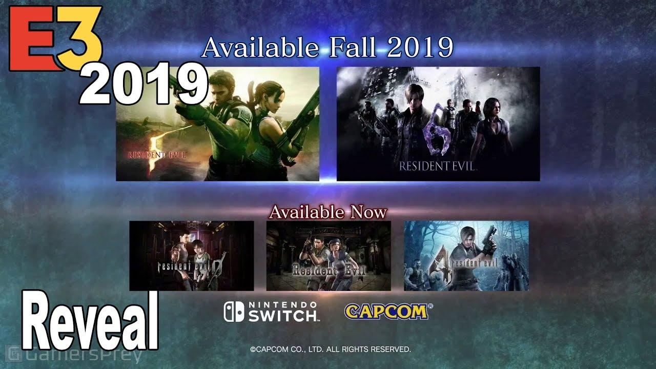 Resident Evil 5 And Resident Evil 6 Nintendo Switch Reveal Trailer E3 2019 Hd 1080p Youtube
