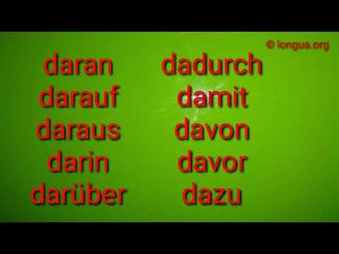 Deutsch lernen - Learn German: daran, darauf, daraus, dazu, davon, dagegen, damit, darum -longua.org