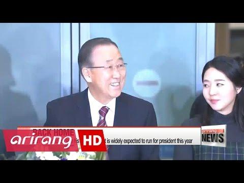 Former UN chief Ban Ki-moon returns to Korea