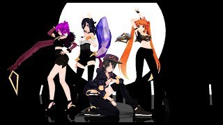 【MMD】K/DA - POP/STARS (ft Madison Beer, (G)I-DLE, Jaira Burns)【Osana Ayano Kokona Oka】