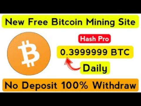 Free Bitcoin Mining site 2020 Mine BTC Daily No Investment Payment ...