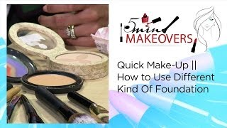Quick Make-Up || How to Use Different Kind Of Foundation || The Cloakroom Thumbnail