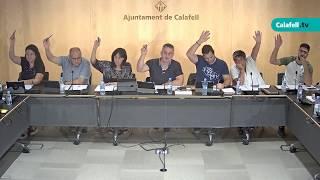 Ajuntament de Calafell: sessió plenària ordinària, 12 de setembre de 2019
