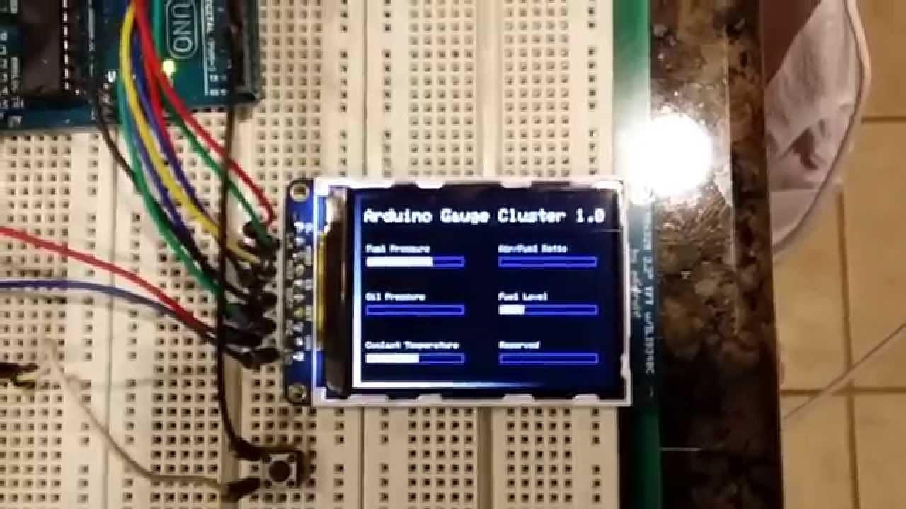Arduino lcd gauge cluster doovi