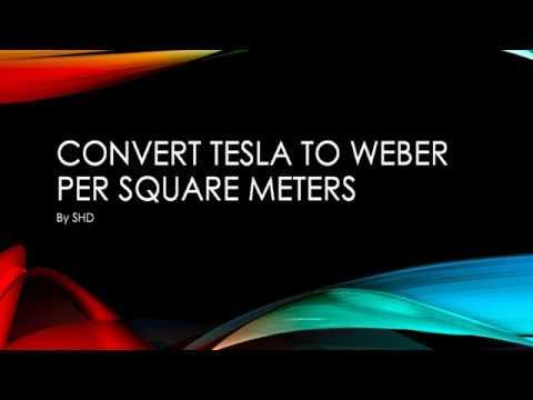 Convert Tesla (T) to weber per square meter wb/m^2