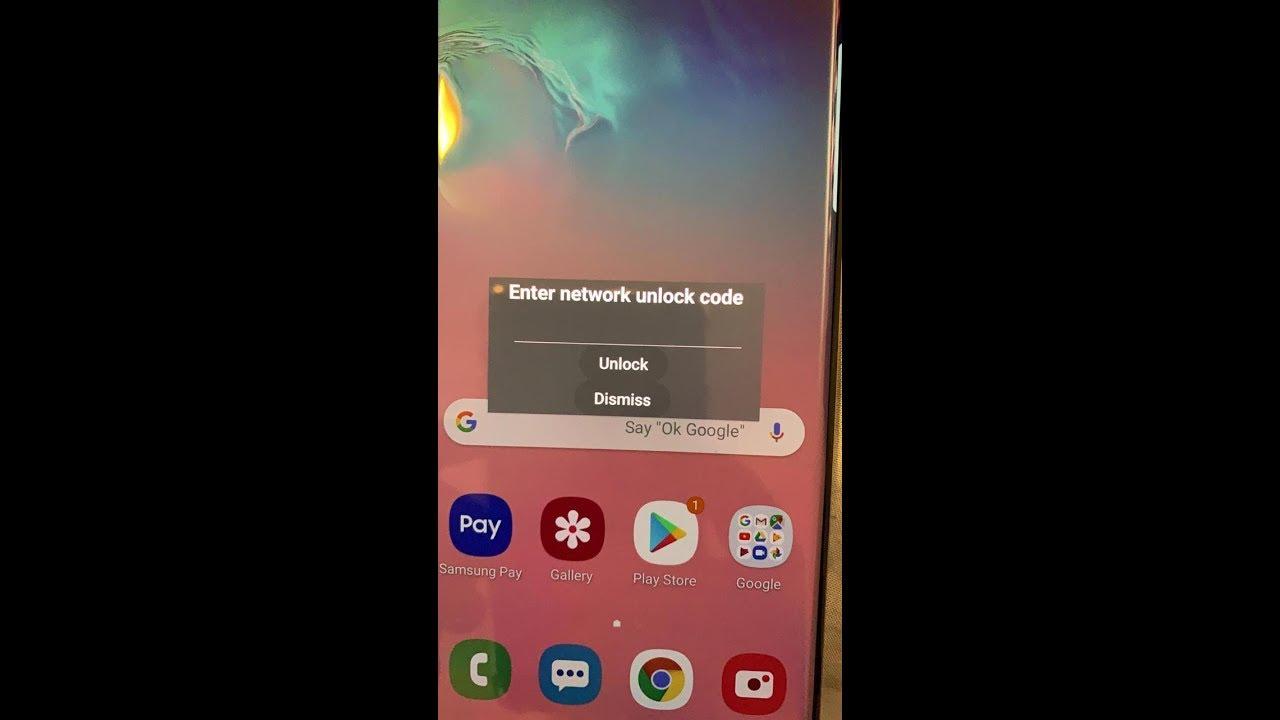 Network Unlock Code Samsung Galaxy S10e S10 S10+ Xfinity AT&T Spectrum  Mobile