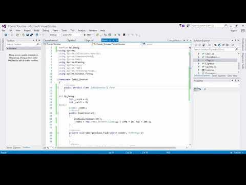 Zombi Shooter Game  in C# Part#4 |