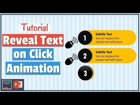 How To Reveal Text On Click With PowerPoint Animation