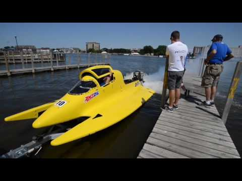 River Roar: See Amsoil crew test Terry Rinker's #10 F1 boat