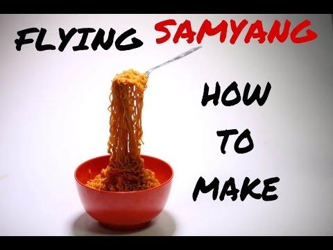 FLYING SAMYANG NOODLE / MIE TERBANG: HOW TO MAKE