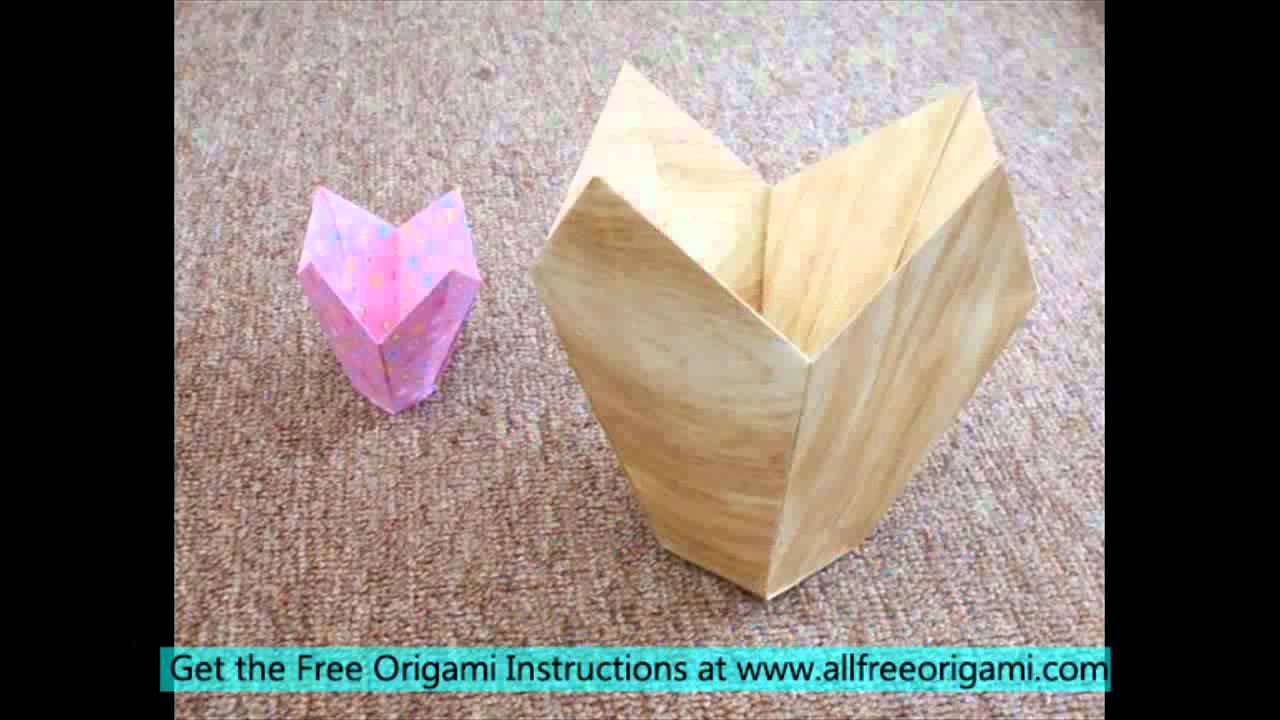 Easy origami vase youtube easy origami vase reviewsmspy
