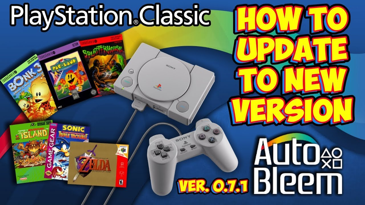 PlayStation Classic How To Update To AutoBleem 0 7 1 Easily!