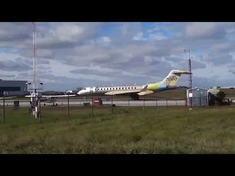 Bombardier Global 7000 First Flight: Complete Video