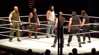 THE SHIELD AND WYATT FAMILY BRAWL AT HOUSE SHOW in Cedar Rapids Iowa