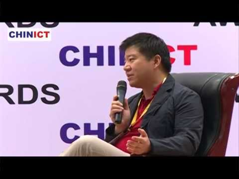 KongZhong's co-founder Nick Yang speaks at CHINICT in Beijing.