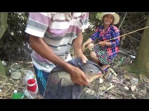 Câu cá suối - hai vợ chồng chiến đấu với bầy cá rô phi
