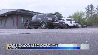 Shooting over face mask leaves Fayetteville security guard in critical condition