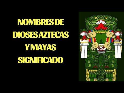 Nombres de Dioses Aztecas y Mayas