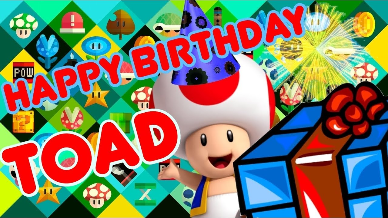 The Super Plush Mario Bros - Happy Birthday Toad - YouTube