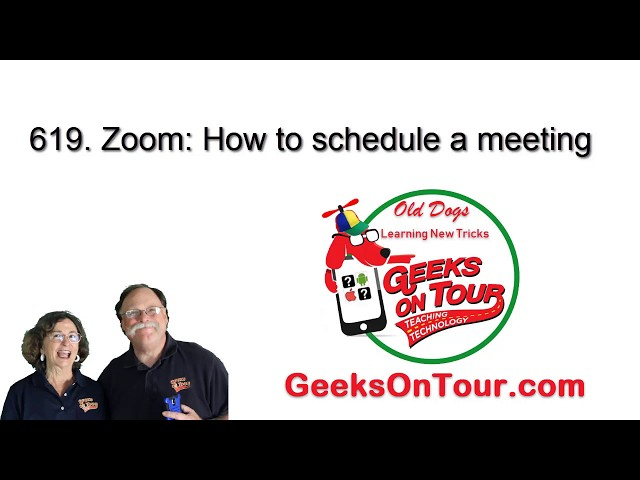 How to Schedule a Zoom Meeting - Tutorial Video 619