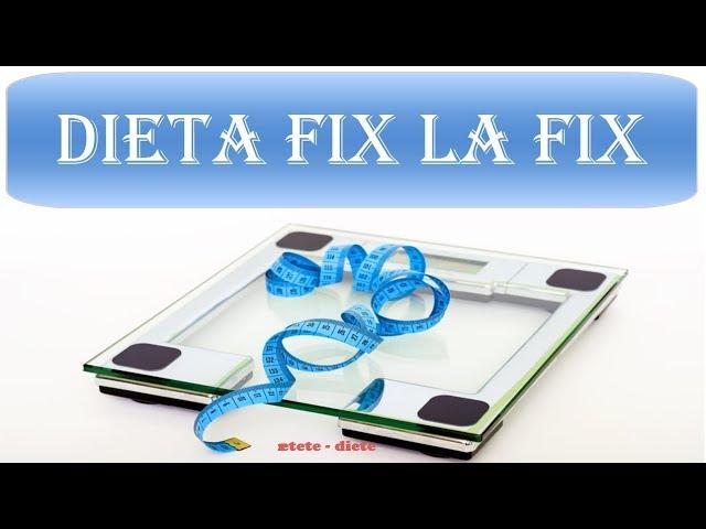 dieta fix la fix program