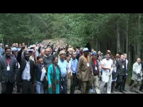 Participants in Int'l Festival Visit Kim Jong Il's Birthplace in Paektusan Secret Camp