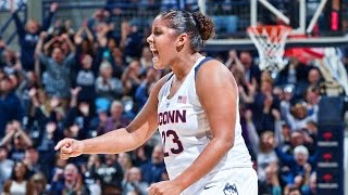 Kaleena mosqueda-lewis scored 23 points and breanna stewart added 22 to help no. 2 uconn beat top-ranked south carolina 87-62 on monday night.