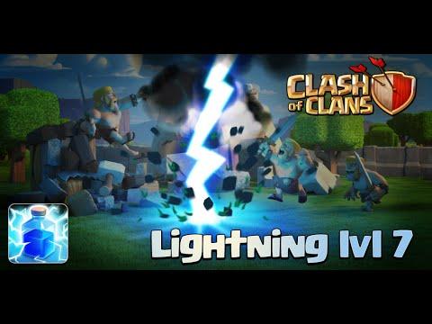 Clash Of Clans - New Update! Lightning Spell Level 7 (Sneak Peek)