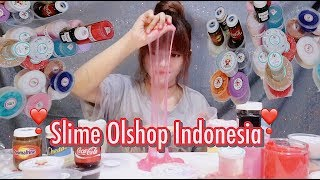 REVIEW JUJUR! 5 SLIME COLLECTION OLSHOP INDONESIA SUPER UNIQUE & THEBEST - GOOD OR BAD SLIME ?