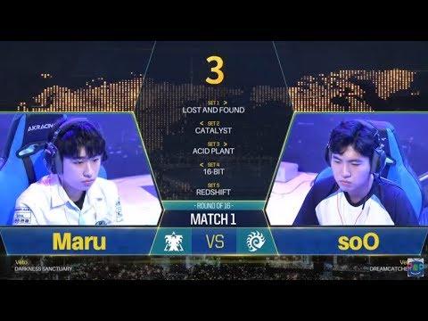 [GSL vs. the World 2018] Ro.16 Day1 Match1 Maru vs soO