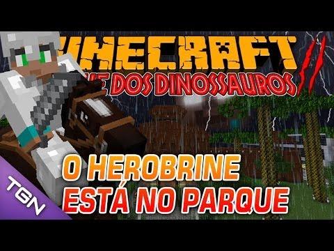 Minecraft Parque dos Dinossauros II - #25 O HEROBRINE ESTÁ NO PARQUE