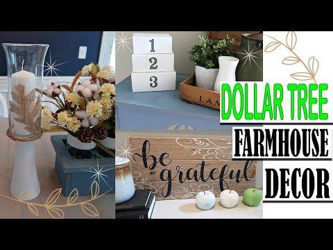 DOLLAR TREE FARMHOUSE FALL DECOR DIY