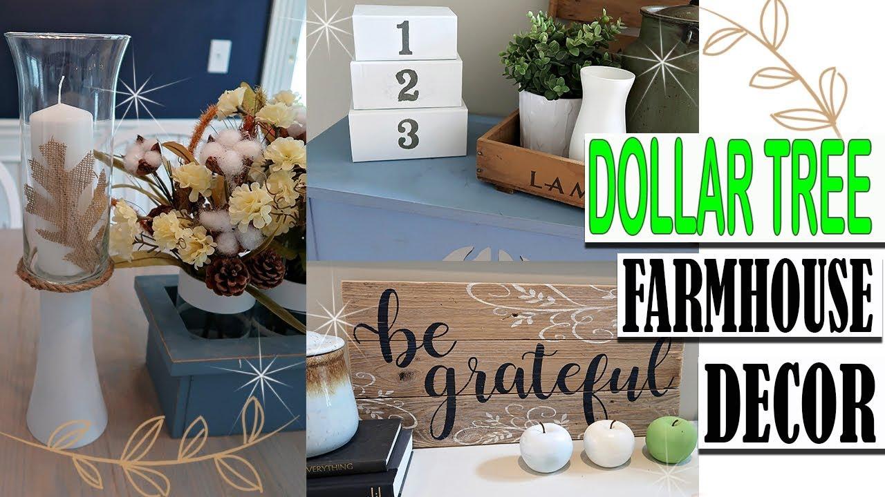 Dollar Tree Farmhouse Fall Decor Diy Youtube