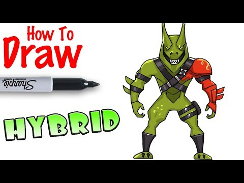 How to Draw Hybrid Max | Fortnite