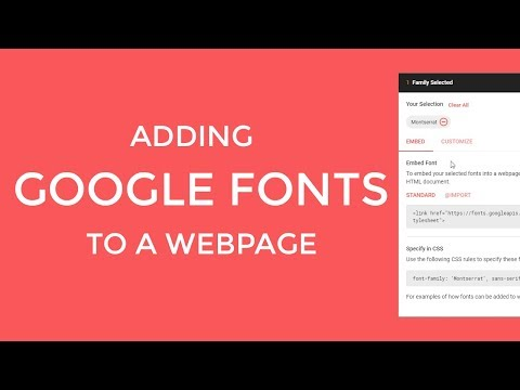 Adding Google fonts to a webpage