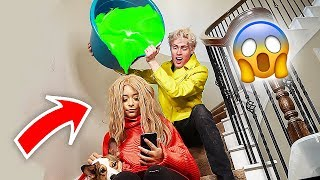 SLIME PRANK ON MY GIRLFRIEND!!!
