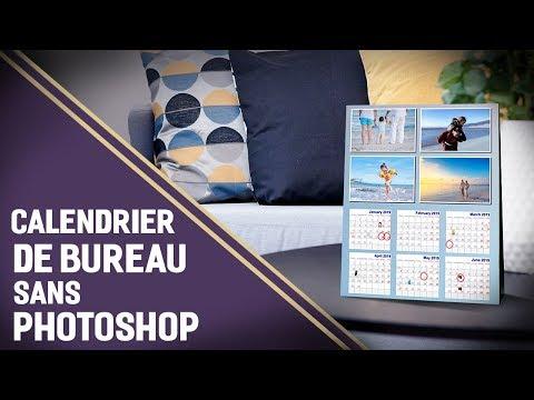 Calendrier De Bureau Personnalisé Sans Photoshop Youtube
